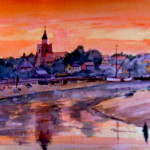 Maldon, Essex, Water color on paper, 36 by 26, £ 150.